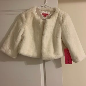 Betsey Johnson faux fur shrug
